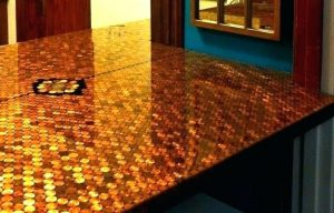 penny top epoxy table